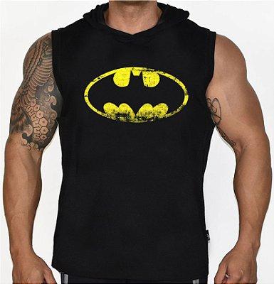 Camiseta Regata Machão Com Capuz Batman