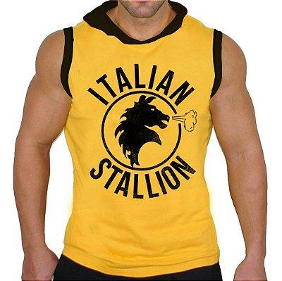 Camiseta Regata Machão Com Capuz Itallian Stallion