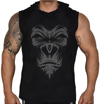 Camiseta Regata Machão Com Capuz Gorila