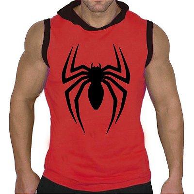 Camiseta Regata Machão com Capuz Homem Aranha