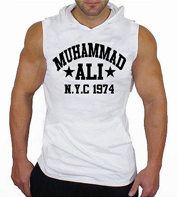 Camiseta Regata Machão com Capuz Muhammad Ali
