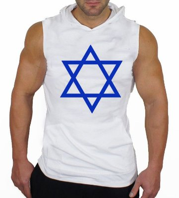 Camiseta Regata Machão com Capuz Israel Estrela de Davi