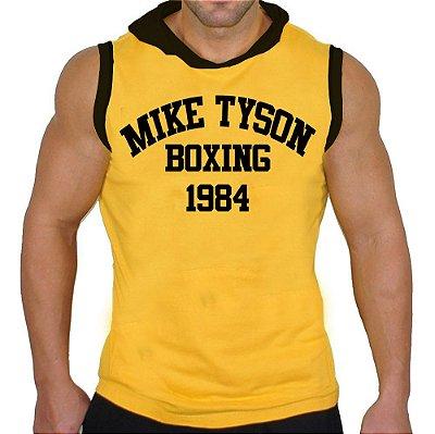 Camiseta Regata Machão com Capuz Mike Tyson 1984