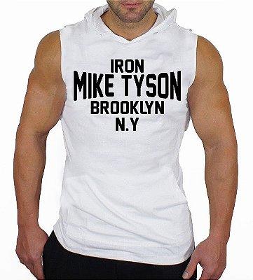 Camiseta Regata Machão com Capuz Iron Mike Tyson Brooklyn