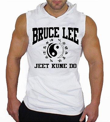 Camiseta Regata Machão com Capuz Bruce Lee Jeet Kune Do