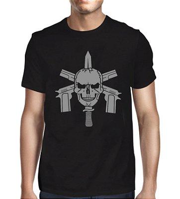 Camiseta Faca na Caveira Tropa de Elite