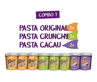 Combo 07 - Pastas Mix (3 Original | 3 Crunchy | 2 Cacau)