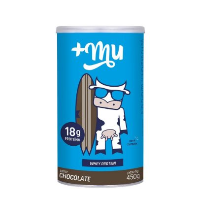 Whey +Mu Chocolate (Concentrado) - Pote 450g | +Mu Proteína