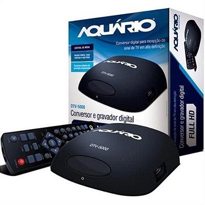 Conversor Gravador Digital Tv Dtv-5000 Aquário