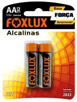 PILHA PEQUENA ALCALINA FOXLUX CARTELA COM 2
