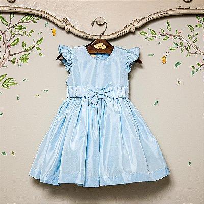Vestido festa bebe e infantil Laço Azul