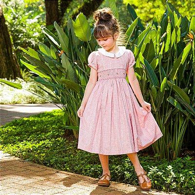 Vestido Bordado Linho Sweetie