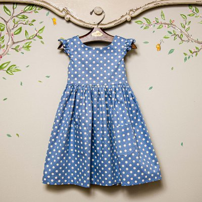 Vestido infantil bolso Bolas