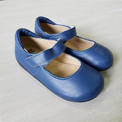 Sapato couro Azul