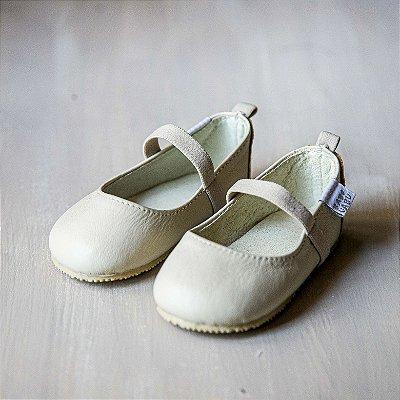 Sapato Couro Bege