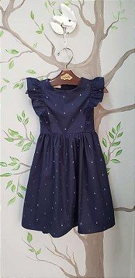 Vestido azul marinho florença