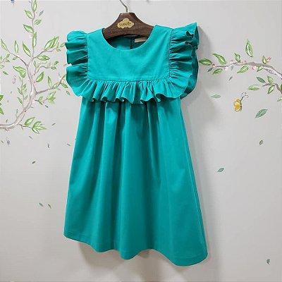 Vestido Milao Azul Turquesa
