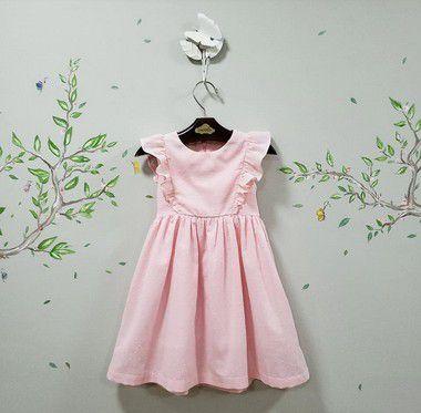 Vestido Infantil Rosa florença