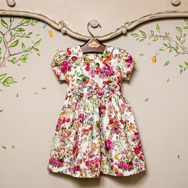Vestido floral Infantil Laço Siena