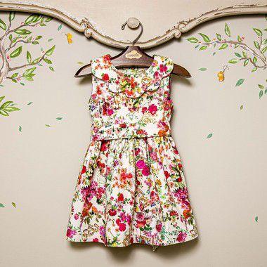 Vestido Infantil Gola Nuvem Siena