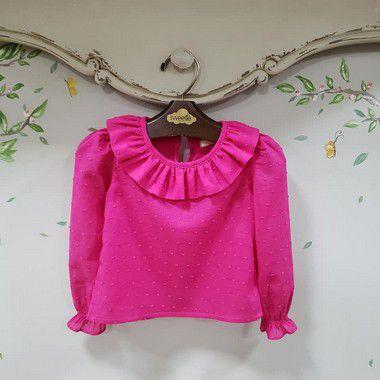 Blusa Infantil manga longa Pink