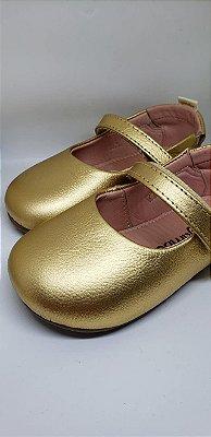 Sapatinho boneca dourado fosco