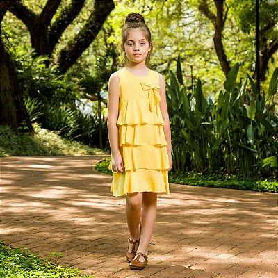 Vestido infantil amarelo modena