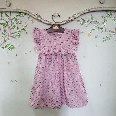 Vestido Infantil Listras Milão