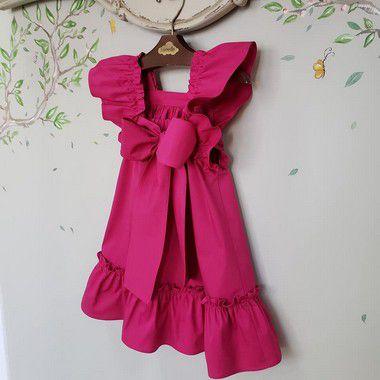 Vestido infantil Pink Bolonha