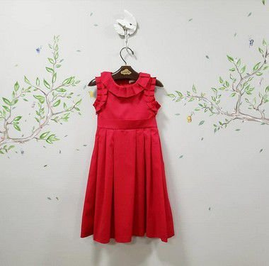 Vestido Infantil Vermelho Roma