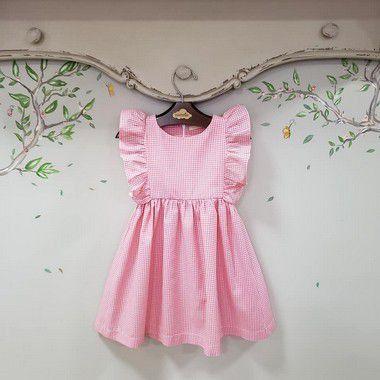 Vestido Xadrez Rosa Capri