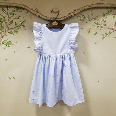 Vestido Infantil Azul bb Ancoras Capri