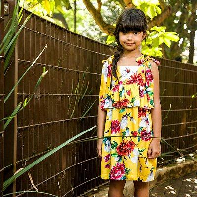 Vestido Infantil estampa Floral Dolce