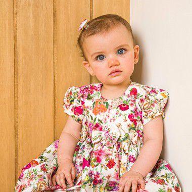 Vestido Bebê floral Siena