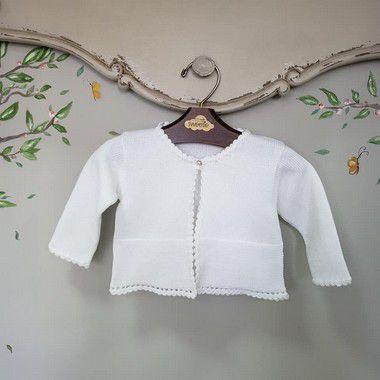 Bolero bebê branco