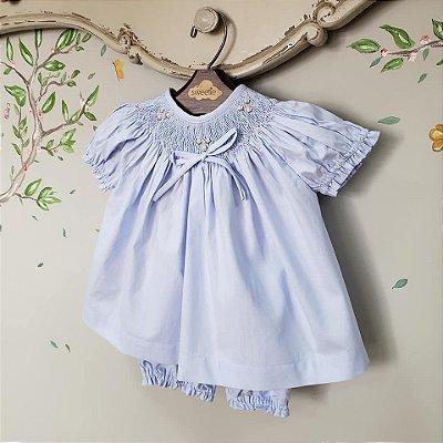 Conjunto batinha bebê azul