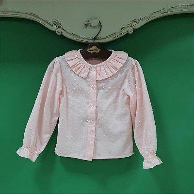 Blusa infantil Rosa Pipoca ML