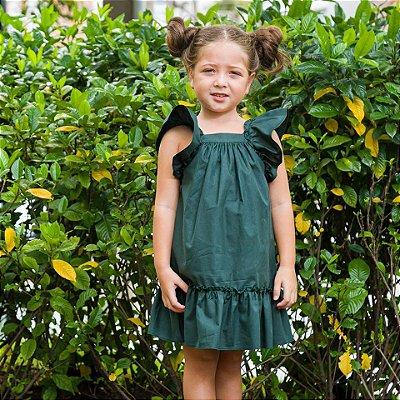 Vestido Bolonha bebê Verde
