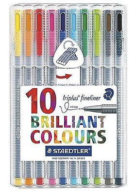 Kit Staedtler Triplus Fineliner 10 cores