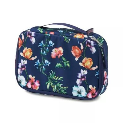 Estojo JanSport Bento Azul Estampado