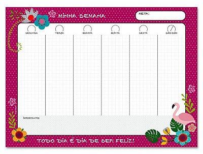 Bloco Planner Fina Ideia Flamingo