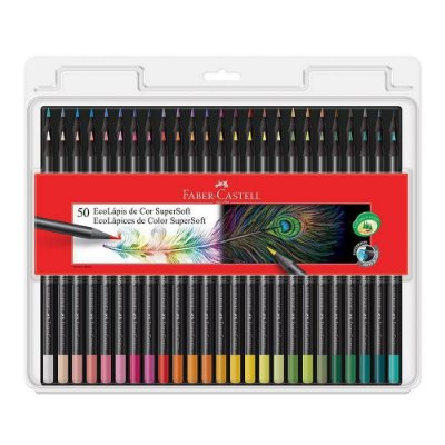 Kit Lapis Cor Faber Castell SuperSoft 50 cores
