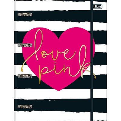 Caderno Argolado Universitário Tilibra Love Pink