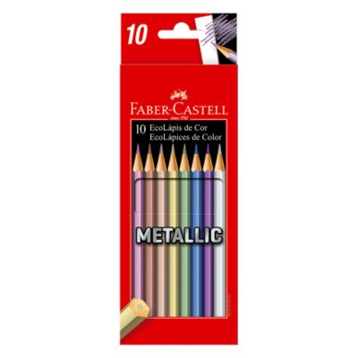 Ecolapis de Cor Faber Castell Metallic 10 cores