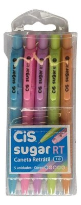 Kit Canetas CIS Sugar Pastel