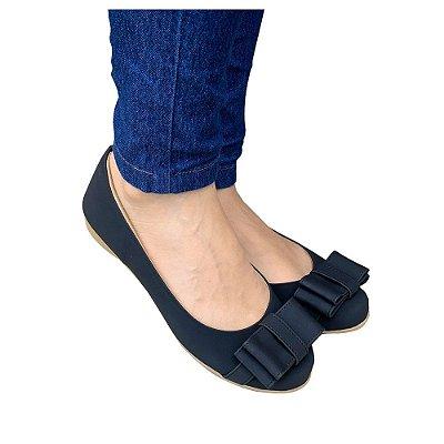 Sapatilha Likka Calçados preta/laço  027