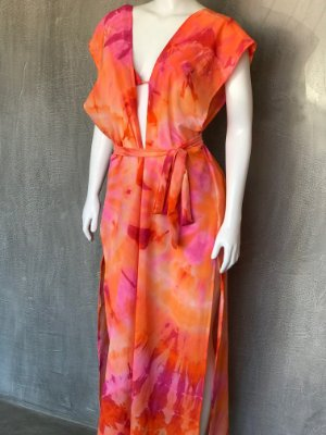 KAFTAN TIE DYE PINK & ORANGE