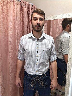 Camisa Traje Típico Xadrez Branca