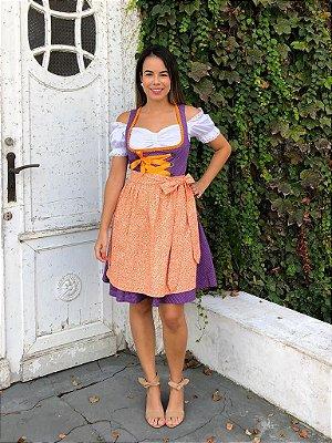 Vestido Roxo Poá
