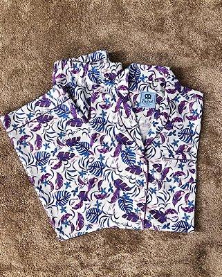 Pijama Roxo Estampado